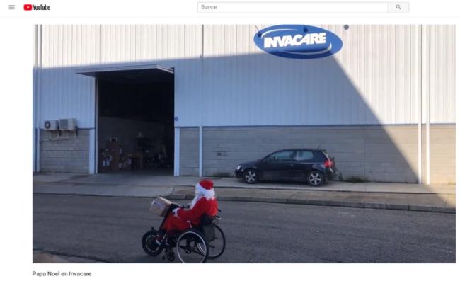 Papa Noel llegando a Invacare YouTube